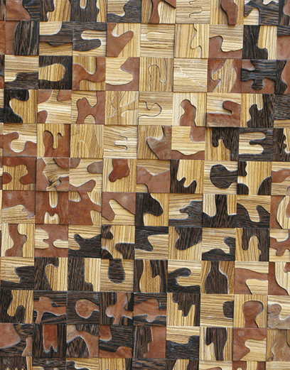 Bits and Pieces wooden wall sculpture by Syd Dunton