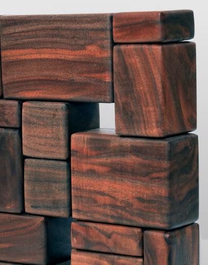 Blocks, wood sculpture by Syd Dunton