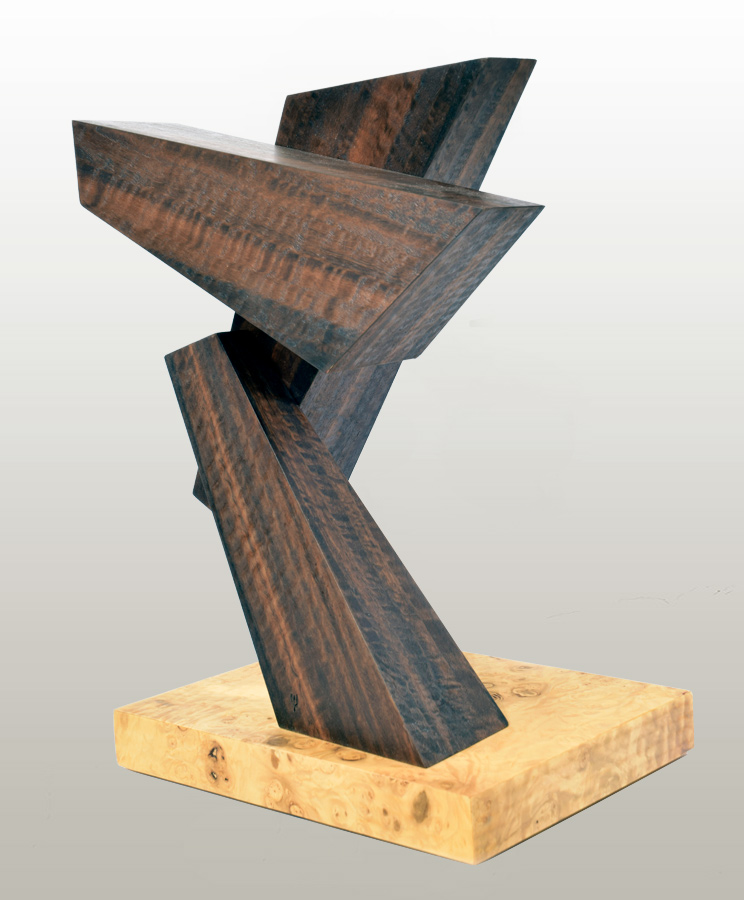 Three Blocks of Wood, wood sculpture by Syd Dunton